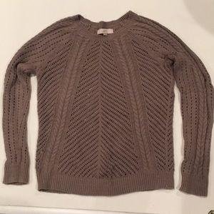 Loft Taupe Sweater